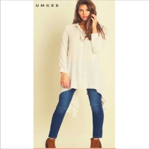 NWT! Winter Cream Versatile Dress/Tunic by Umgee